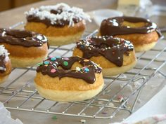 Chocolate Glazed Baked Doughnuts from @Krista Dearden - Budget Gourmet Mom