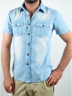 Ανδρικά Ρούχα Shirt Sleeves, Button Down Shirt, Men Casual, Summer, Mens Tops, Blue, Shirts, Women, Fashion