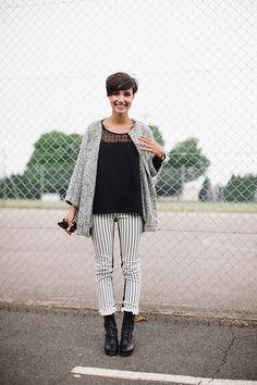 Veste Aténé Malinauskaité - Blouse Clo - pantalon Blank NYC - Boots Swedish Hasbeens
