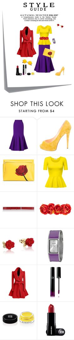 """""""Smells like roses"""" by annalisa-victoria-morehouse ❤ liked on Polyvore featuring Roland Mouret, Christian Louboutin, Loewe, Jil Sander, Disney, Vernier, WithChic, Giorgio Armani, Givenchy and Post-It"""