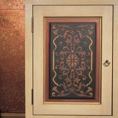 Furniture Stencils | Crossed Palms Crown Stencil | Royal Design Studio