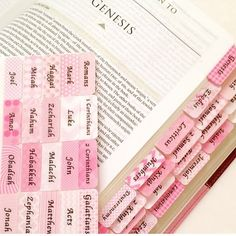 How about some pretty pink Bible tabs?  Just lovely!  Etsy shop link in my bio. http://ift.tt/1KSdRTI  #esvjournalingbible #journalingbiblecommunity #journalingfaith #journalingbiblesupplies #illustratedfaith #bibletabs #bibletab #bibletabsrock #biblejournaling #biblejournalingcommunity #biblejournal #biblejournalinglife #biblejournalingdaily #biblejournalingforthesoul #journalingbible #inspirebible #mycreativebible #inspirebible #inspirebibletabs http://ift.tt/1KAavV3