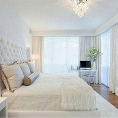 Quarto branco clean decoração