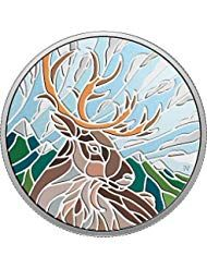 2018 CA Canadian Mosaics PowerCoin CARIBOU 1 Oz Silver Coin 20$ Canada 2018 31.39 Gr Proof