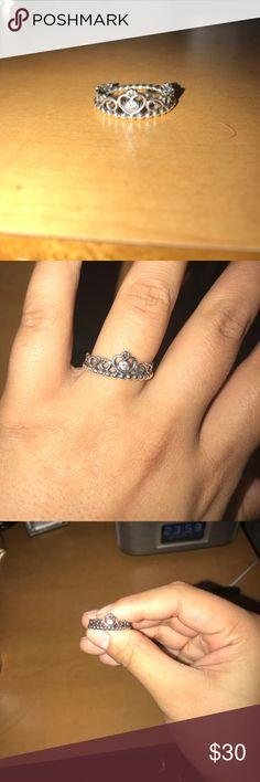 My Princess Pandora Ring cute silver crown ring from pandora Pandora Jewelry Rings