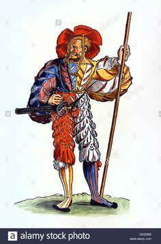 Renaissance Image, Landsknecht, 16th Century, Fashion Sketches, Warfare, Royalty Free Images, Austria, Project Ideas, Medieval