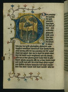 Illuminated Manuscript, Duke Albrecht's Table of Christian Faith (Winter Part), Earthly Paradise, Walters Art Museum Ms. W.171, fol. 17v by Walters Art Museum Illuminated Manuscripts, via Flickr