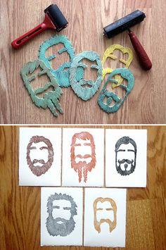 Block prints using styrofoam food trays by Emily Berezin http://www.craftster.org/forum/index.php?topic=272282.0#axzz2ZXcBdYSF