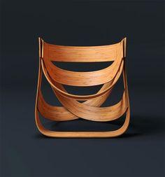 bamboe stoel, bestaande uit meerdere gekrulde bamboe platen https://catview.wordpress.com/2014/02/17/bamboo-chair-design-tejo-remy-e-rene-veenhuizen/