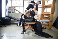 Behind the Scenes of Fashion Editorial for Jute Vol XII. Photographer Tracey Frugoli, Hair Josh Brown, Model Shadia Ghantous, Clothing Lily V Designs.