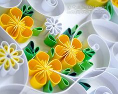 "Original Paper Quilling Wall Art. - The artwork ""Lemonade"". Handmade. Design. Decor. Gift."