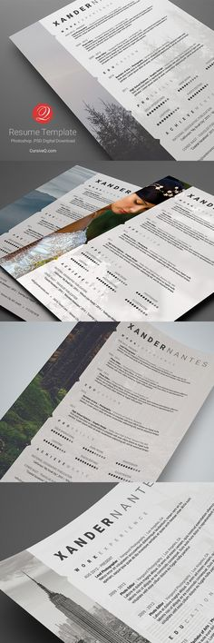 Danielle Resume\/CV Template Word Photoshop InDesign - naming a resume