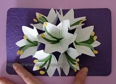 How to make a flower pop up card