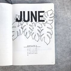 incredible June monthly spreads for your Bullet Journal! Get creative with cover pages with our 5 tips on how to create gorgeous simple and easy pages! Bullet Journal June, Bullet Journal Cover Ideas, Bullet Journal Monthly Spread, Bullet Journal Ideas Pages, Journal Covers, Bullet Journal Inspiration, Journal Pages, Bullet Journals, Diary Decoration