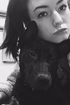 Natasha Negovanlis with her dog
