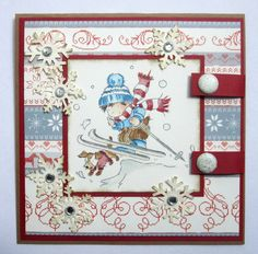 Noel Christmas, Christmas Cards, Ski Jumping, Card Making Tips, Lily Of The Valley, Winter Sports, Copic, Cardmaking, Card Ideas