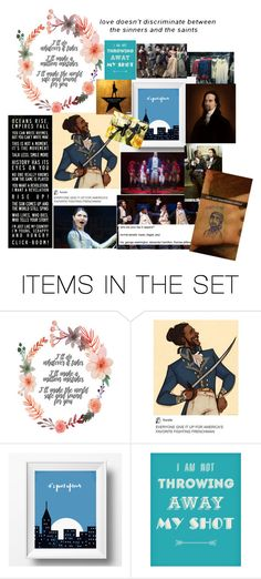 """Hamilton collage"" by ssw110 ❤ liked on Polyvore featuring art"
