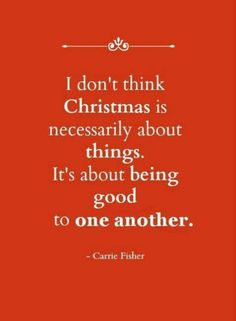 Being Good To One Another......