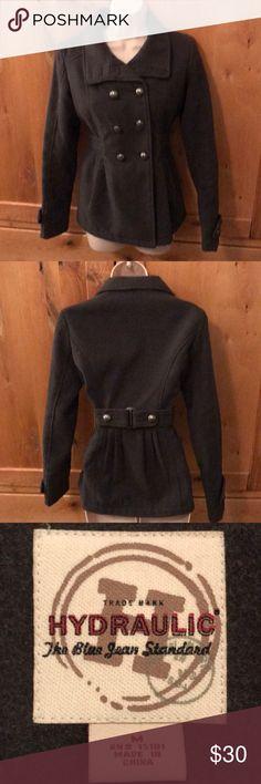 Hydraulic double-breasted coat Hydraulic double breasted dark gray medium coat  New never worn Hydraulic Jackets & Coats Pea Coats