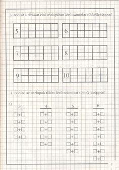 Albumarchívum Kids Crossword Puzzles, Homeschool Math, Homeschooling, Math Classroom, Archive, Album, Preschool, Craft, Initials