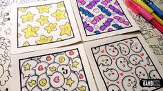 How to Draw Patterns for your doodles - Ghosts, Stars, Bats and comics b...