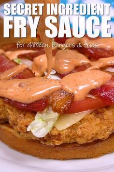 SECRET INGREDIENT FRY SAUCE RECIPE -- is the perfect topping for chicken, burgers, or use as a dipping sauce for fries and onion rings ! Sauce Ketchup Mayonnaise, Mayonnaise Recipe For Burgers, Spicy Mayonnaise Recipe, Spicy Ketchup Recipe, Chipotle Mayo Recipe, Aioli Sauce, Marinade Sauce, Burger Sauces Recipe, In And Out Burger Sauce Recipe