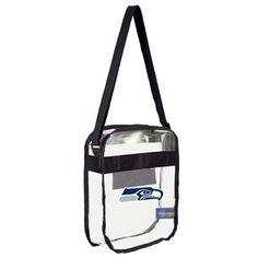 Seattle Seahawks Clear Carryall Crossbody Bag