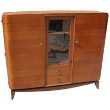 FRENCH ART DECO MAHOGANY BOOKCASE style of MAXIME OLD, circa 1940's