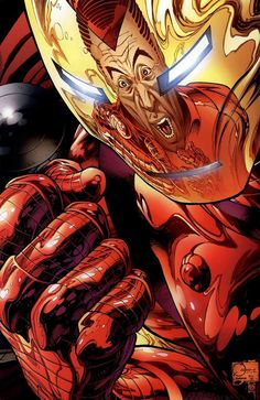 Iron Man vs. Norman Osborn by Joe Quesada, Danny Miki and Richard Isanove