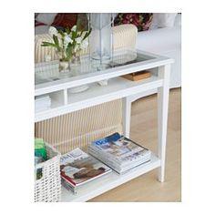 IKEA - LIATORP, Sivupöytä, harmaa/lasi, , Voidaan sijoittaa sohvan taakse, seinän viereen tai tilanjakajaksi.
