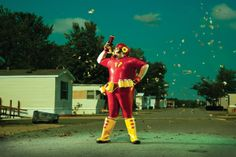Think you've seen everything superhero-ey? Take a look at the fallen superheroes by Eric Curtis first. All Superheroes, Celebrity Photographers, Futuristic City, Trends Magazine, Hollywood, Photo Series, The Real World, Book Photography, Ronald Mcdonald