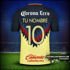 Camiseta Club America 2017/18 número 10 tu nombre Mens Tops, T Shirt, Maths, Spider, Football Shirts, Nike Football, Club America, Custom T Shirts, Corona