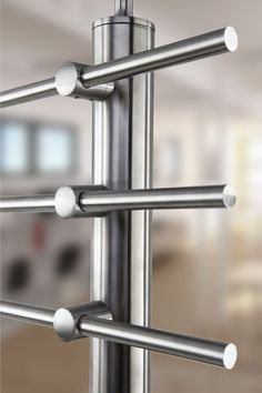 Standoff Crossbar Holder End - - Stainless Steel Posts - Crossbar Railing Posts Balcony Railing Design, Glass Railing, Fence Design, Balustrade Inox, Balustrades, Stainless Steel Stair Railing, Stainless Steel Pipe, Steel Stairs Design, Staircase Handrail
