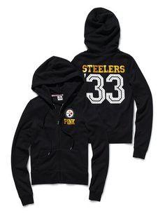 Pittsburgh Steelers Bling Zip Hoodie