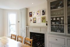Wine Rack Fireplace Photos