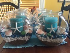Pool Party Ideas for Summer – Summer Style – Grandcrafter – DIY Christmas Ideas ♥ Homes Decoration Ideas Moana Birthday Party, Moana Party, Luau Party, Mermaid Birthday, Seashell Crafts, Beach Crafts, Moana Centerpieces, Beach Party Centerpieces, Little Mermaid Centerpieces