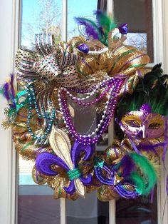 SALE  Mardi Gras Mesh Wreath by Cindyswreathsand on Etsy, $75.00
