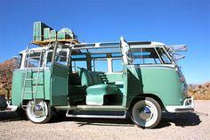 #roadtrip #vintagevwvan #vintagecamper #seafoamgreen #volkswagenvan posted by www.campbellsloft.com