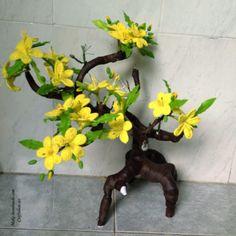 Красивое вязаное дерево (абрикос)