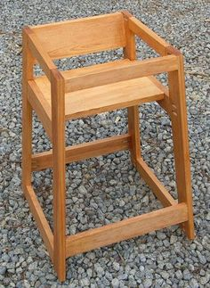 DIY Restaurant High Chair:  So simple, yet perfect for what we'd need.