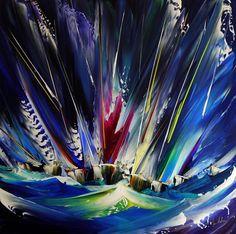 'Deep Blue Sea' - Acrylic on Canvas, 24x24in