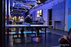 Play ping pong while eating! SPiN Milwaukee Cafe - Milwaukee, WI - Kid friendly restaurant reviews - Trekaroo
