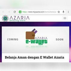 E-WALLET  Sebagai bentuk komitmen untuk mendukung ekonomi digital Azaria menyediakan e-wallet yang tersedia untuk semua associate Azaria.  E-Wallet ini bermanfaat untuk cashless payment di website myazaria.com sewaktu anda melakukan transaksi belanja.  Berbagai manfaat dan nilai tambah akan didapatkan semua Associate yang menggunakan E-Wallet azaria. Salah satunya yaitu pembelanjaan paket keanggotaan di myazaria.com menggunakan e wallet akan mendapatkan benefit tambahan.  Selain itu pengguna…