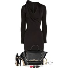 A fashion look from November 2014 featuring Donna Karan dresses, Ippolita earrings and Ray-Ban eyeglasses. Browse and shop related looks.