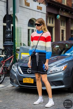Coloblock Stripe Sweater | Street Style |