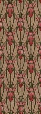 Nouveau Tulip - Historic Wallpapers - Arts and Crafts - Aesthetic Movement, late 19th century.