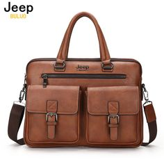 1c2c793409 JEEP BULUO Famous Brand New Design Men s Briefcase Satchel Bags For Men  Business Fashion Messenger Bag 14  Laptop Bag 8001