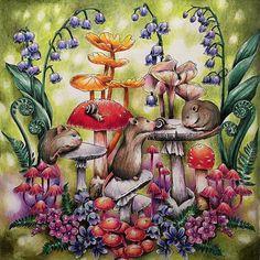 #menuetdebonheur #prismacolor #mashrooms #poisonmashrooms #amanita #coloringhobby #adultcoloringbook #adulcoloring #coloringforadults