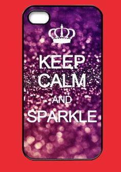 Keep Calm and Sparkle iPhone Case
