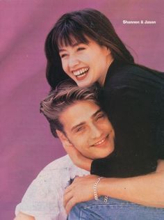 Shannen Doherty and Jason Priestley Beverly Hills 90210, Hot Actors, Actors & Actresses, 90210 Actors, Shannon Dorothy, 1990s Tv Shows, Brandon Walsh, Jason Priestley, 90s Fashion